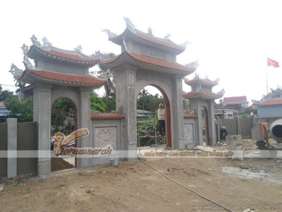 Quy trình thi công nhà thờ họ bê tông giả gỗ tại Hải Dương